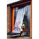 Freezer Doorway PVC strip Curtains inc Rail