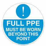 Full PPE Must Be Worn Graphic Floor Marker