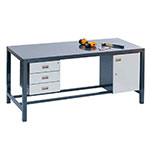 Fully Welded Engineers Bench - Beech Hardwood Top