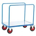 Galvanised Base Platform Trolley with Two Bar Sides