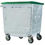 Galvanised Metal Wheelie Bins