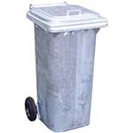Galvanised Steel Metal Wheelie Bins