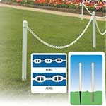 Ground Mounting Plastic Posts