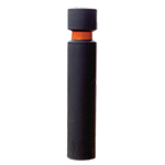 H/D Fixed Steel Core Bollards with Black Sleeves