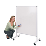 Height Adjustable Double Sided Mobile Whiteboard