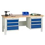 Industrial Workbenches with Drawers / Cupboards