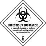 Infectious Substance 6 Diamond Label