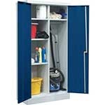 Janitors Utility Cupboards 5 Compartments & Clothes Rail