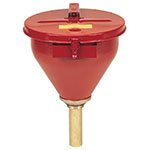 Justrite Flame Arrester Self-Closing Steel Drum Safety Funnel