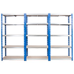 Kwikrack Steel Shelving Bays with 5 Chipboard Shelves