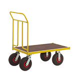 Heavy Duty Platform Truck with 400kg Capacity, Single or Double Ended
