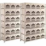 Lightweight Archive Storage Shelving 6 Boxes High