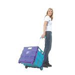 Plastic Folding Box Trolley, 25kg and 35kg