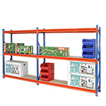 Heavy Duty Longspan Racking Extension Bays with 3 Shelves