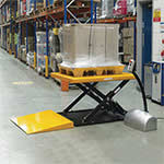 Low Profile Lift Table, 1000kg Capacity with Load Ramp