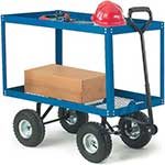 Mesh Platform Truck with Two Mesh Shelves 150kg capacity