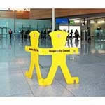 Minder Barrier Floor Signs with Stand