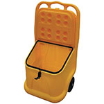 Mobile 75L Grit Bin with Handle and Wheels
