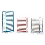 Mobile Tray Racks / Trolleys complete with trays