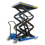 Mobile Triple Scissor Lift Tables 500kg cap