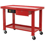 Mobile Steel Workbench for Engine Repair