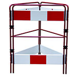 Multi Gate Metal Folding Barriers for Hazard Protection