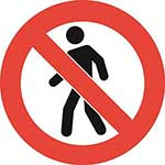 No People Graphic Floor Marker