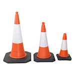 Pallet of Highwayman 2-Piece Traffic Cones