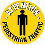Pedestrian Traffic Graphic Floor Marker