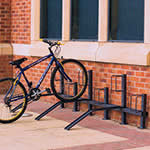 Pillar Bike Rack - Alternate ramps for 4 to 12 Cycles