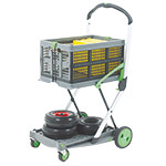 Plastic / Aluminium Folding Trolley with Box & Tray 60kg cap