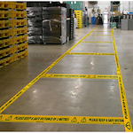 Please Keep a Safe Distance Self-Adhesive Floor Tape