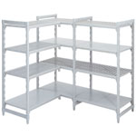 Polypropylene Shelving 300 deep 4x Grille Shelves