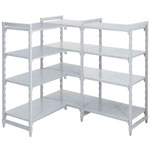 Polypropylene Shelving 600 deep 4x Solid Shelves