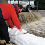 Portable Expanding Sandbags for Flooding - Water Absorbing Flood Protection