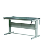 Premier Height Adjustable Workbenches with Lino Top