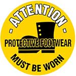 Protective Footwear Must Be Worn Graphic Floor Marker