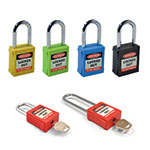 Safety Lockout Padlocks in 6 Colours