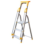 Aluminium Safety Platform Steps with Tool Tray