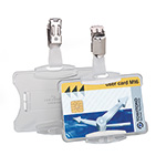 Security Pass Holder with Clip Fastening