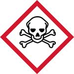 GHS Skull and Cross Bones Pictogram Labels