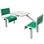 Metal Canteen Table Seating Units, 2, 4 and 6 seats, 4 Colour Options