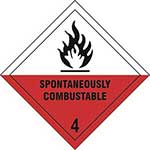 Spontaneously Combustible 4 Diamond Label