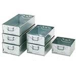 Stacking Galvanised Tote Pans