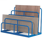 Staggered Height Sheet Rack with 4 compartments