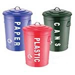 Steel Recycling Bin Set