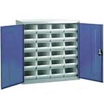 Steel Storage Cabinet with 24 plastic containers