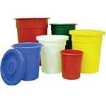 Tapered Side Round Food Grade Bins