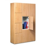 Timber Effect Lockers 1 to 4 doors