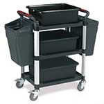 Utility Tray Trolley with 3 Shelves with Accessories